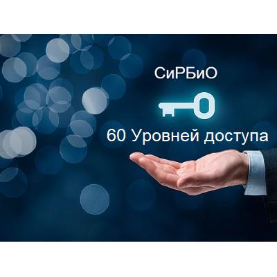 60 уровней доступа СиРБиО